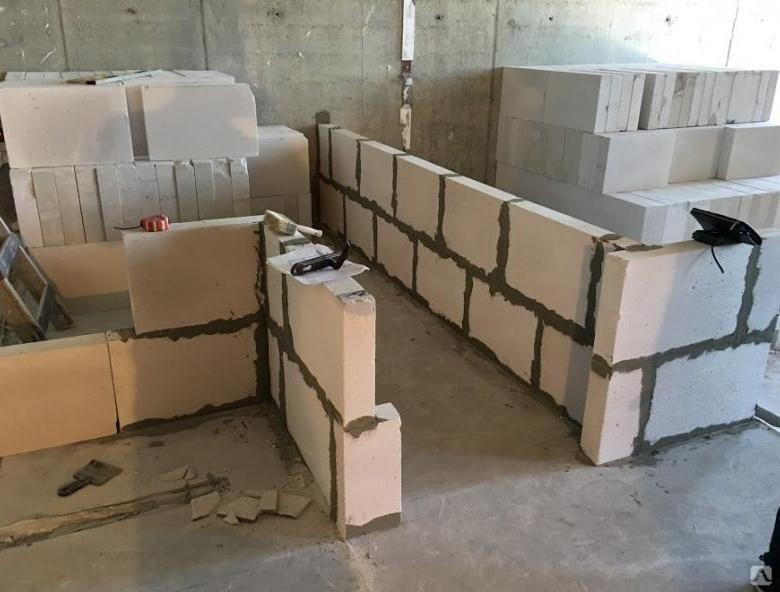 стена из газобетонных блоков цена за работу